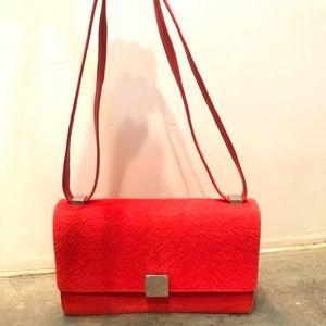 Celine coral pony case flap bag